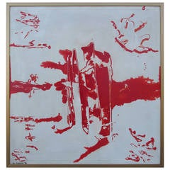 Eve Garrison Abstract Painting Dated 1962