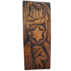 Jean Claude Gaugy Symbolic Wood Carving