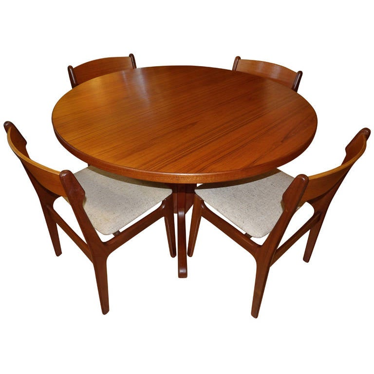 eric buck teak dining table and chairs at 1stdibs