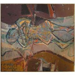 Beeindruckendes Lundy Siegriest Gemälde des Abstrakten Expressionismus