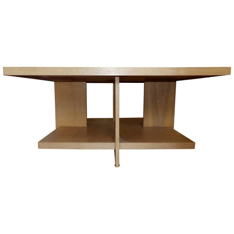 John H 39 Howe Square Coffee Table Inspired By Frank Lloyd Wright At 1stdibs