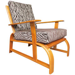 Streamline Modern Lounge Chair in the Manner of Gilbert Rohde