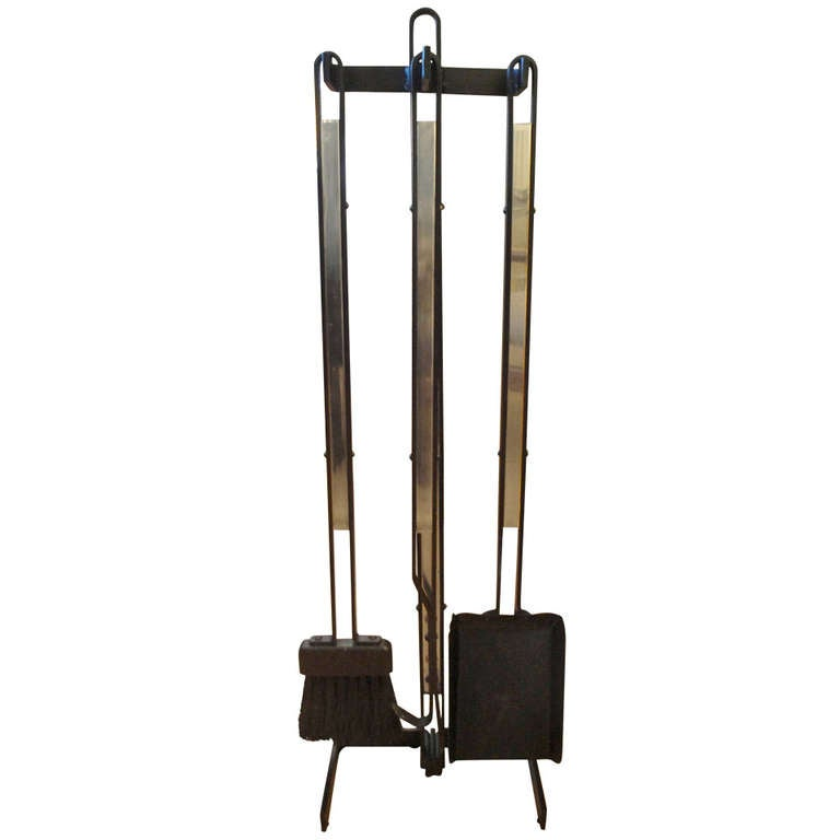 mid century modern fireplace tool set at 1stdibs