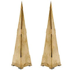 Pair Of Obelisk Lamps By Gabriela Crespi