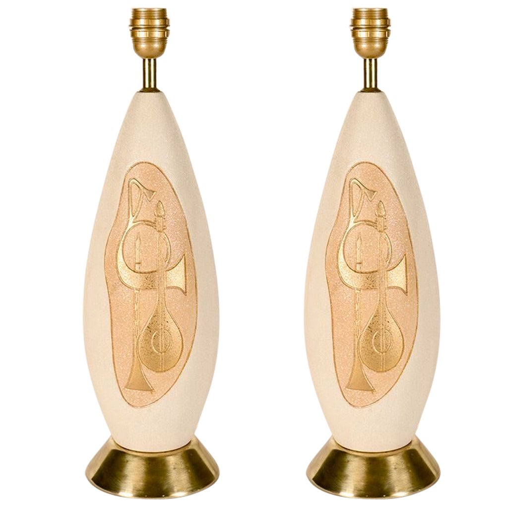 Pair of 1950s Table Lamps from Vallauris