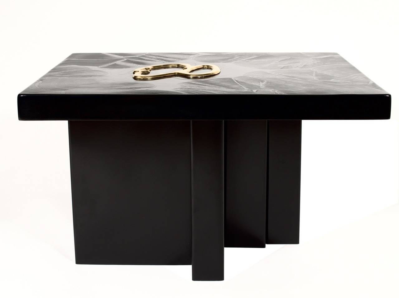 Belgian Resin And Agate Side Table By Jean Claude Dresse For Sale