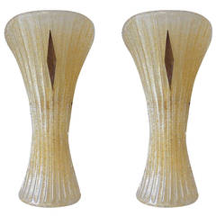 Pair of Murano Glass Sconces by Veronese