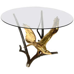 Bronze Eagle Dining Table by Alain Chervet