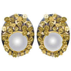 Pair of Mirrors with Rock Crystal
