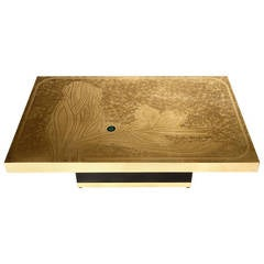 Etched Brass Table by Edmond Segura