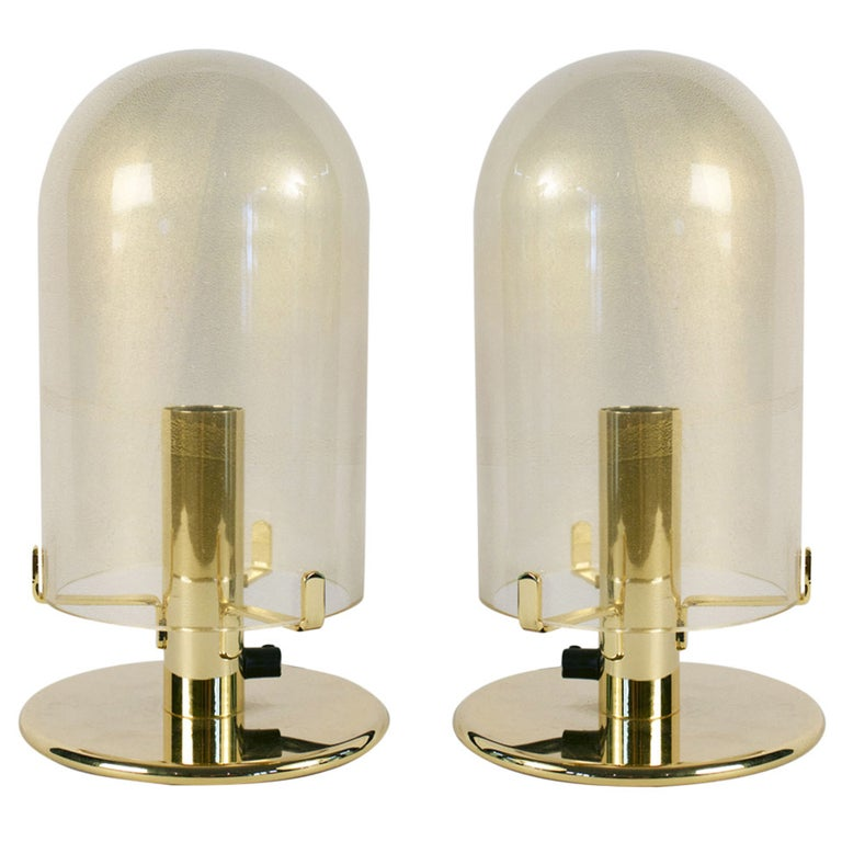 1980s Murano Glass Table Lamps by Veronese For Sale