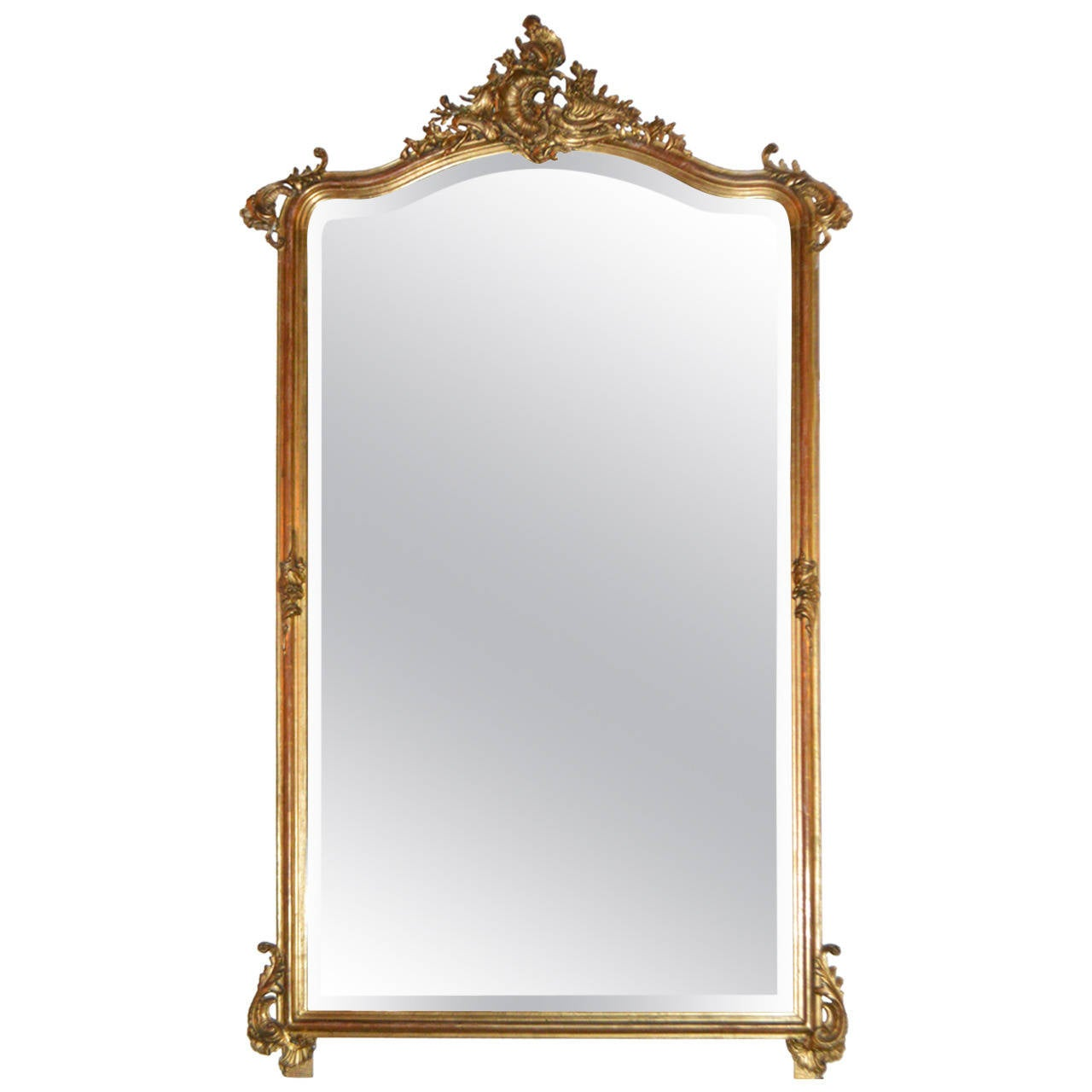 Arched gilt mirror at 1stdibs - 19th Century Louis Xv Style Large Gilded Mirror 1