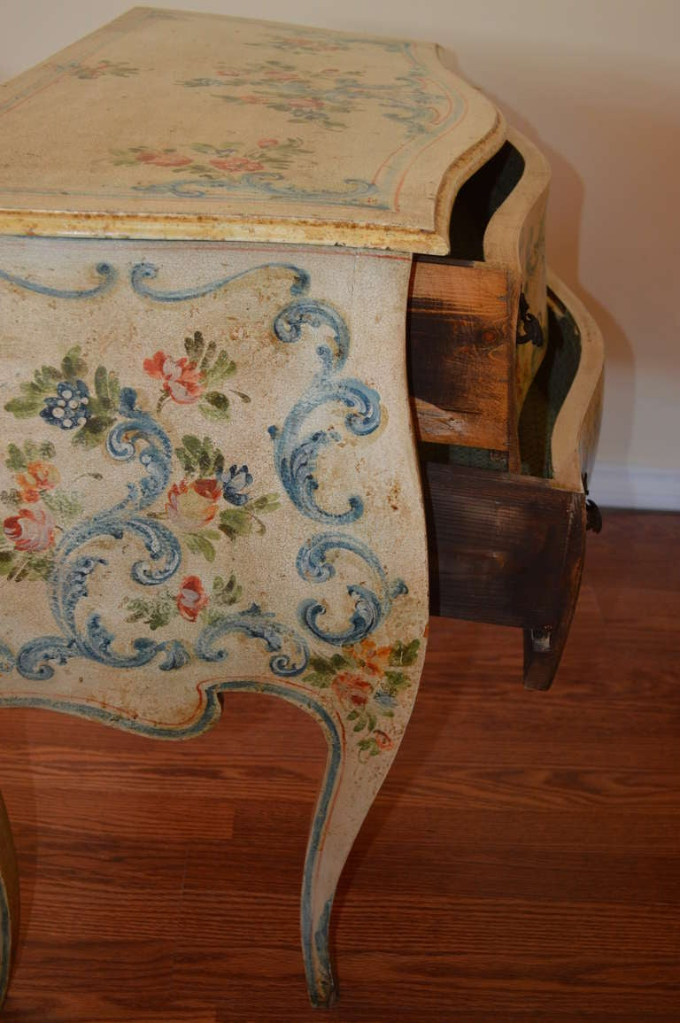 Louis Xv Style Hand Painted Commode At 1stdibs