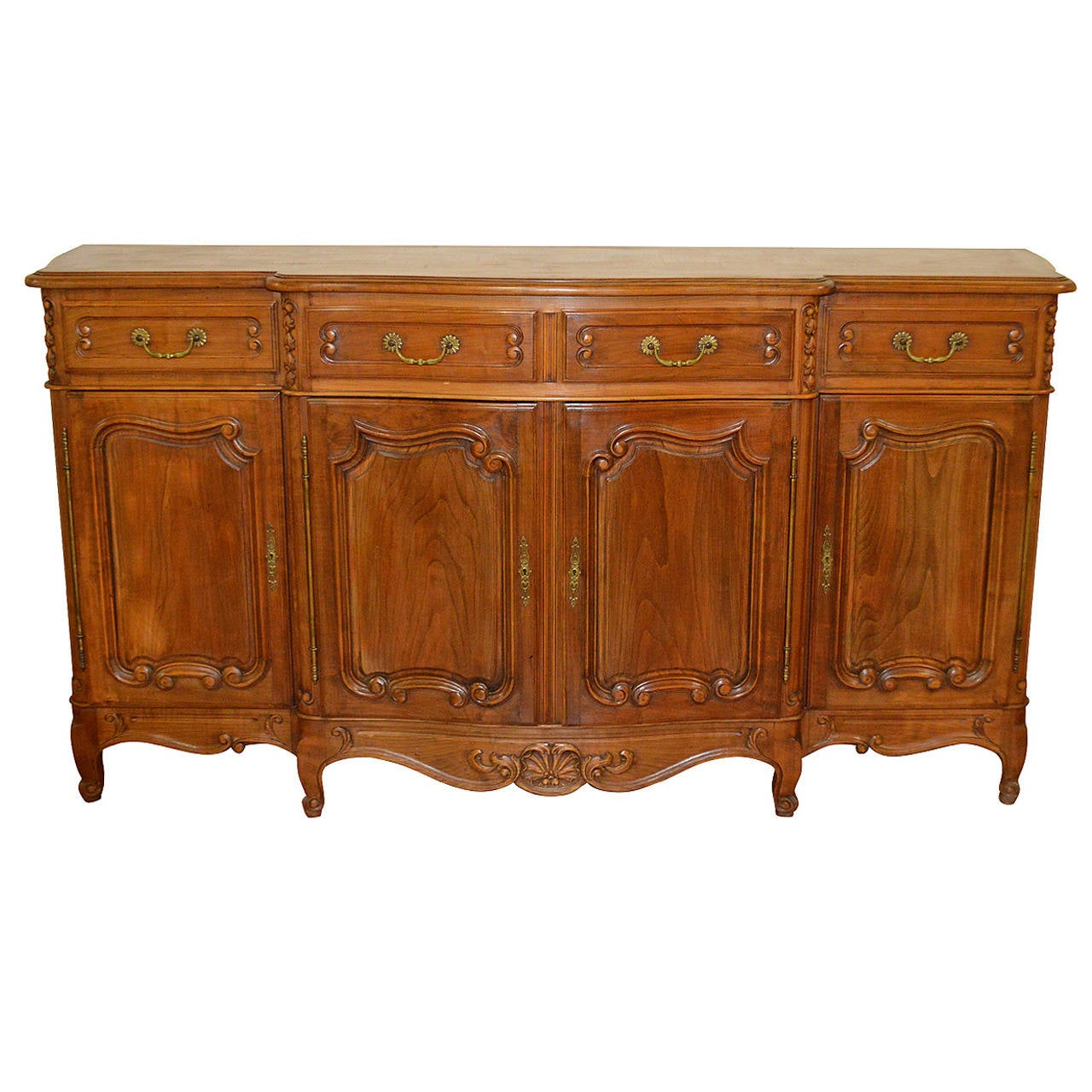 Solid Walnut Buffet ~ Louis xv style solid walnut buffet at stdibs