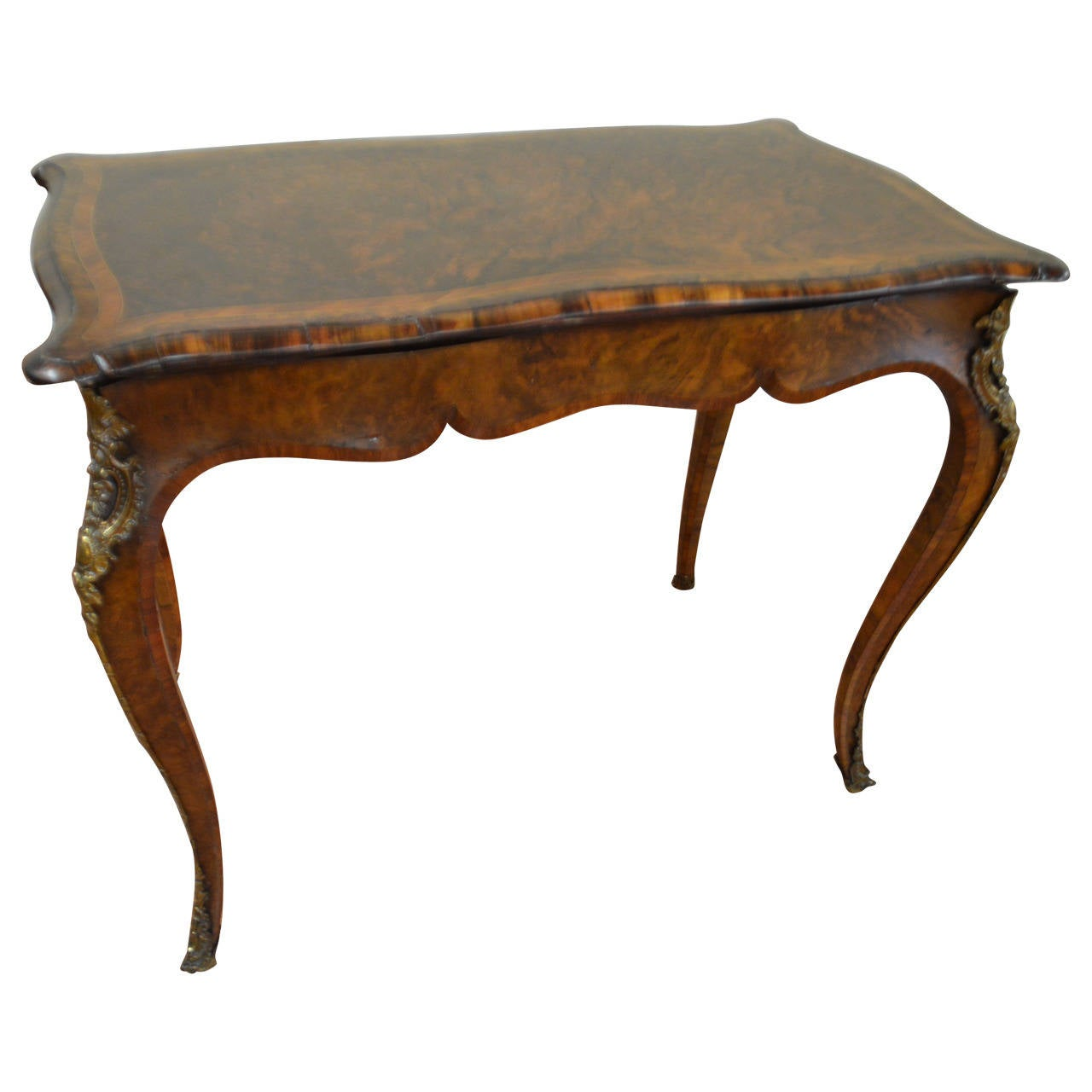 Louis xv style burled mahogany games table at 1stdibs - Table louis xv ...