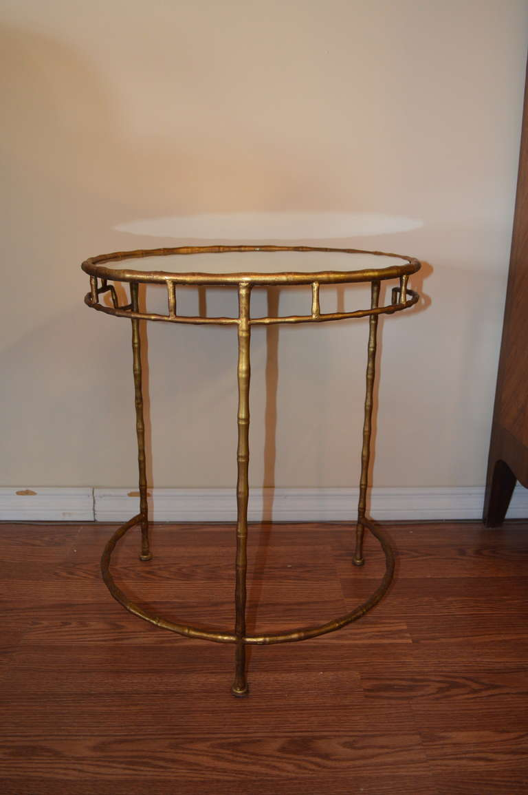 Gilded metal bamboo style set of nesting tables at stdibs