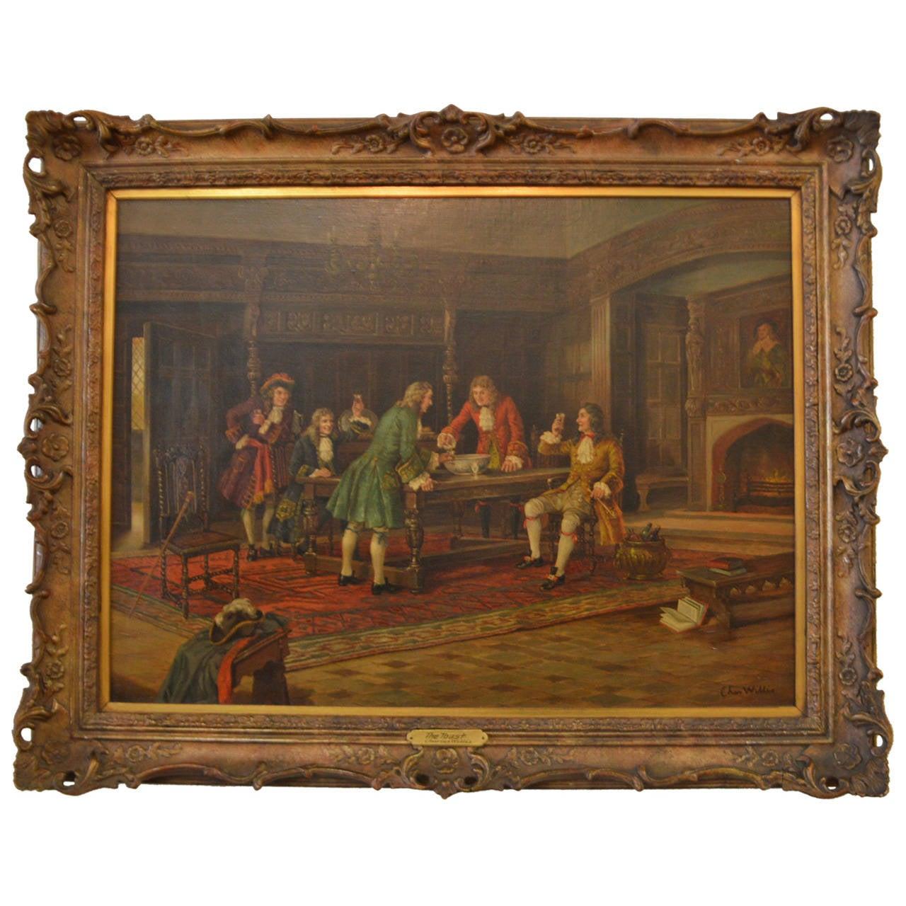 Antique Oil On Copper Painting Portrait Beard Man