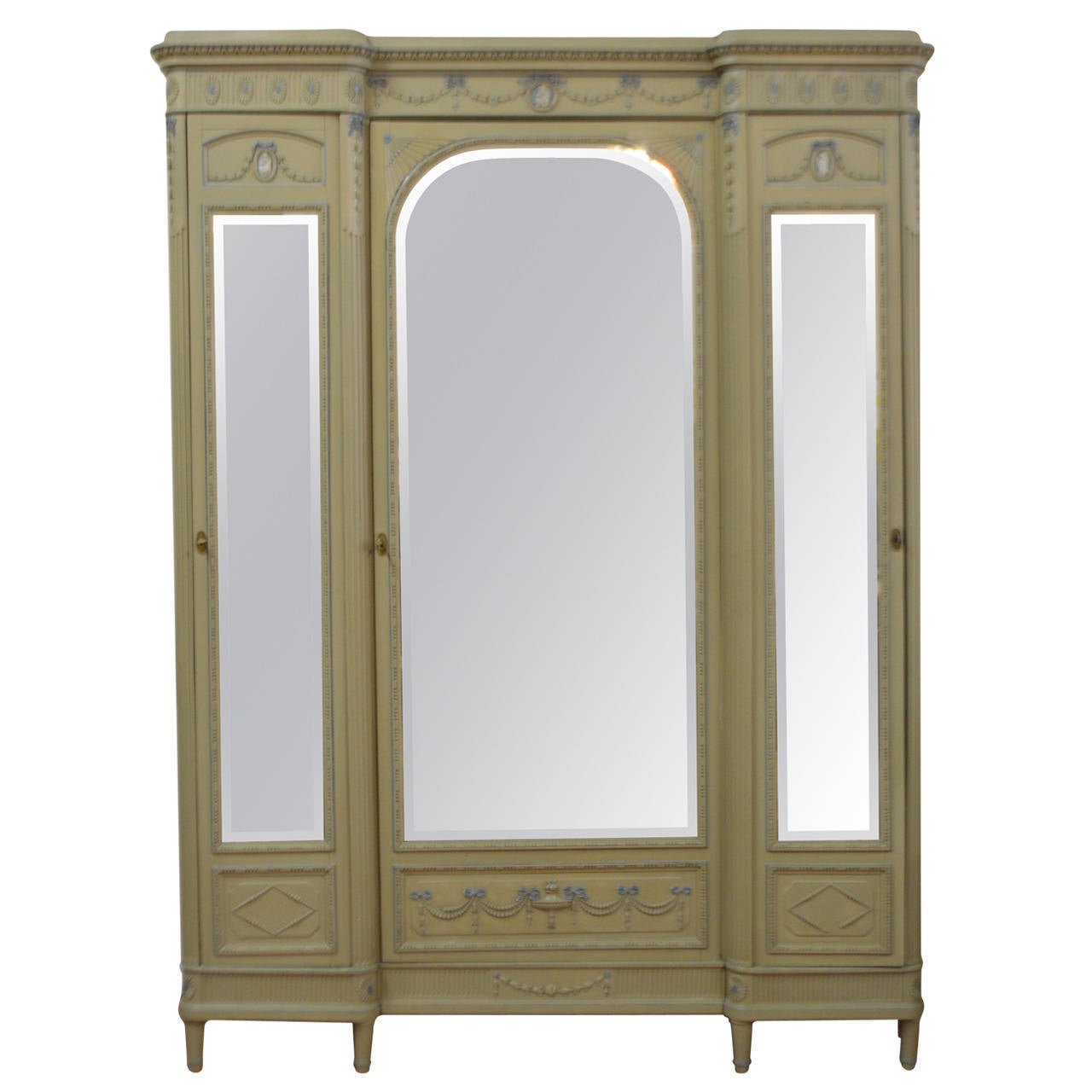 louis xvi style painted armoire at 1stdibs. Black Bedroom Furniture Sets. Home Design Ideas