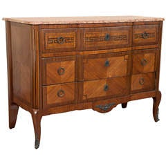 Transitional Period Style Inlay Commode