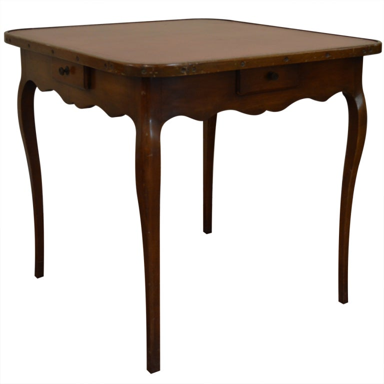 Louis xv style games table with leather top at 1stdibs - Table de chevet louis xv ...