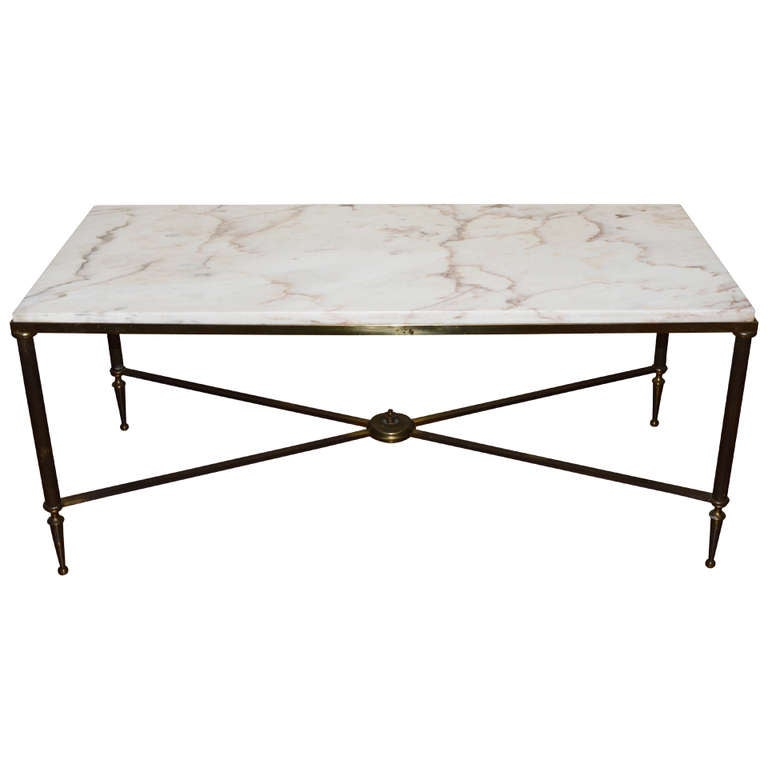 Marble Top Coffee Table Canada: Louis XVI Style Bronze And Marble Top Cocktail Table. At