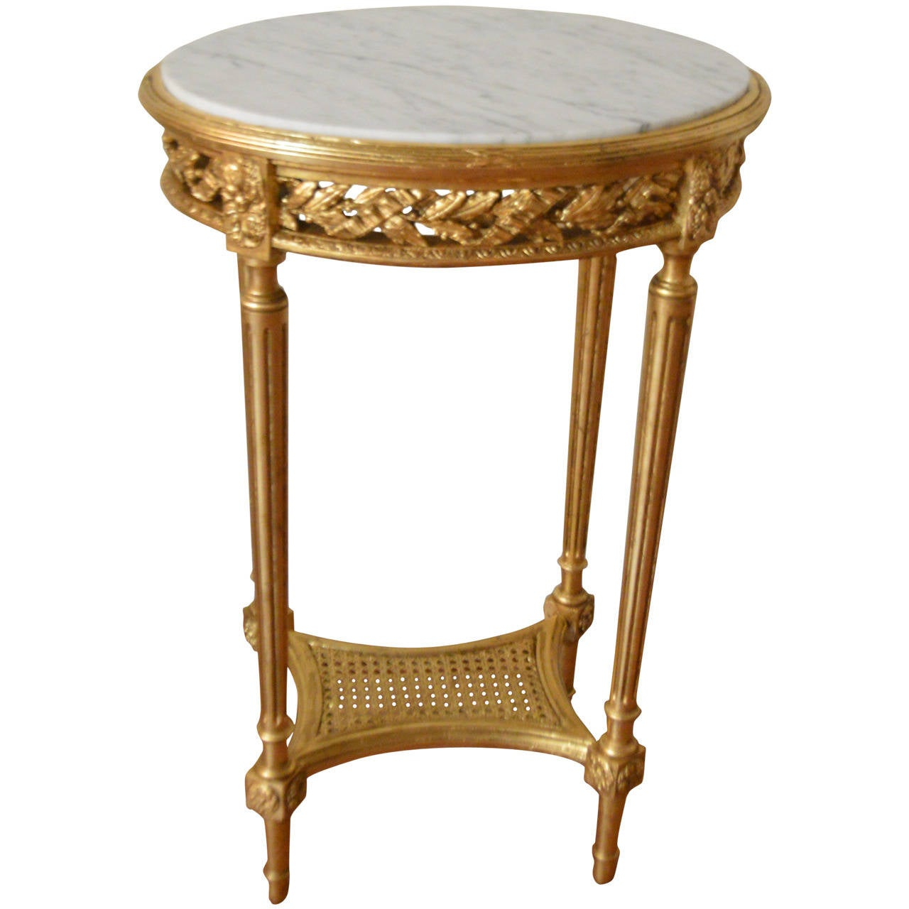 louis xvi style gilded oval side table at 1stdibs. Black Bedroom Furniture Sets. Home Design Ideas
