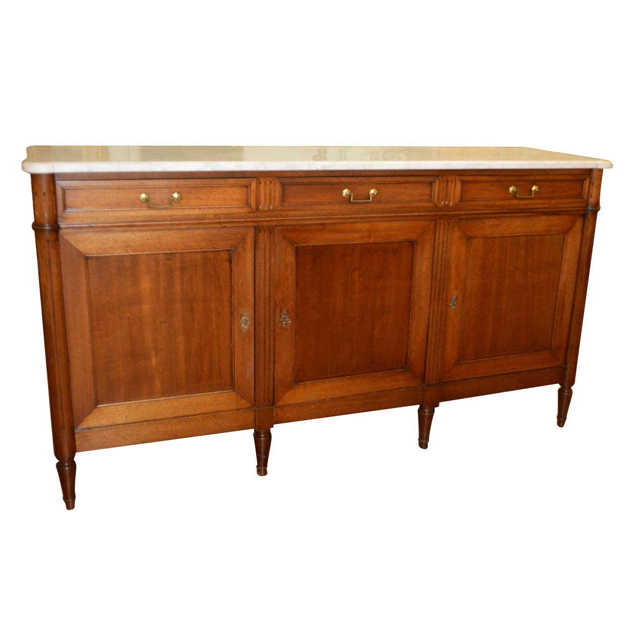 Marble Top Buffet ~ Louis xvi style mahogany sideboard with marble top at stdibs