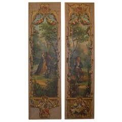 Pair of Large 19th Century Oil Paintings