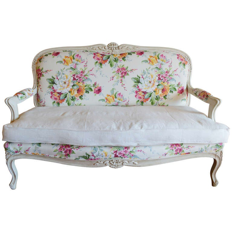 Louis xv style painted canape at 1stdibs for Louis xv canape sofa
