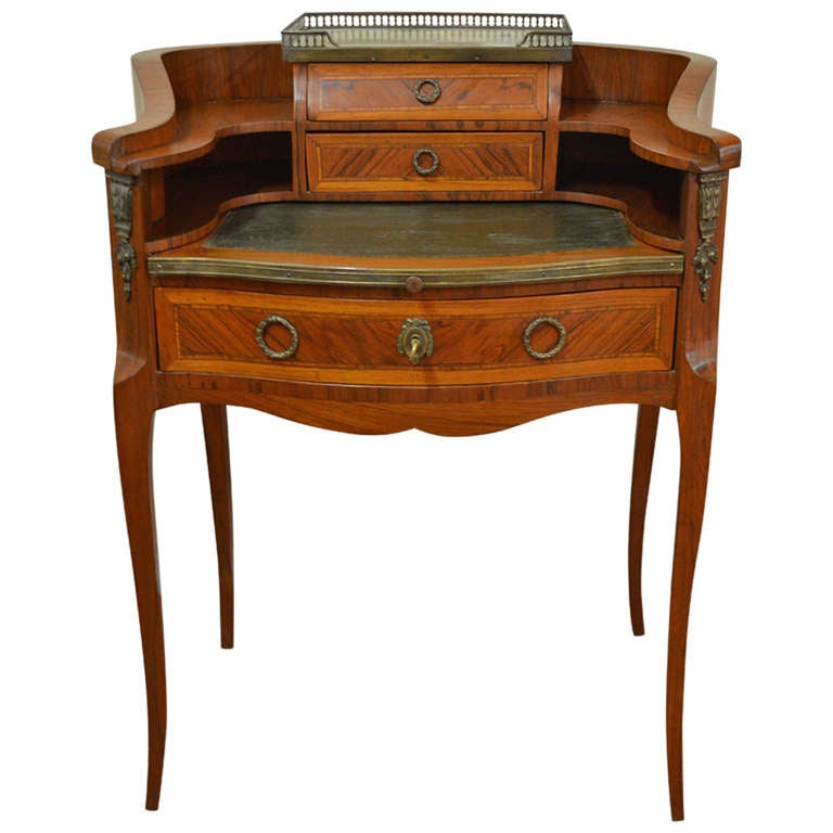 Louis Xv Style Inlay Wood Butler's Desk.
