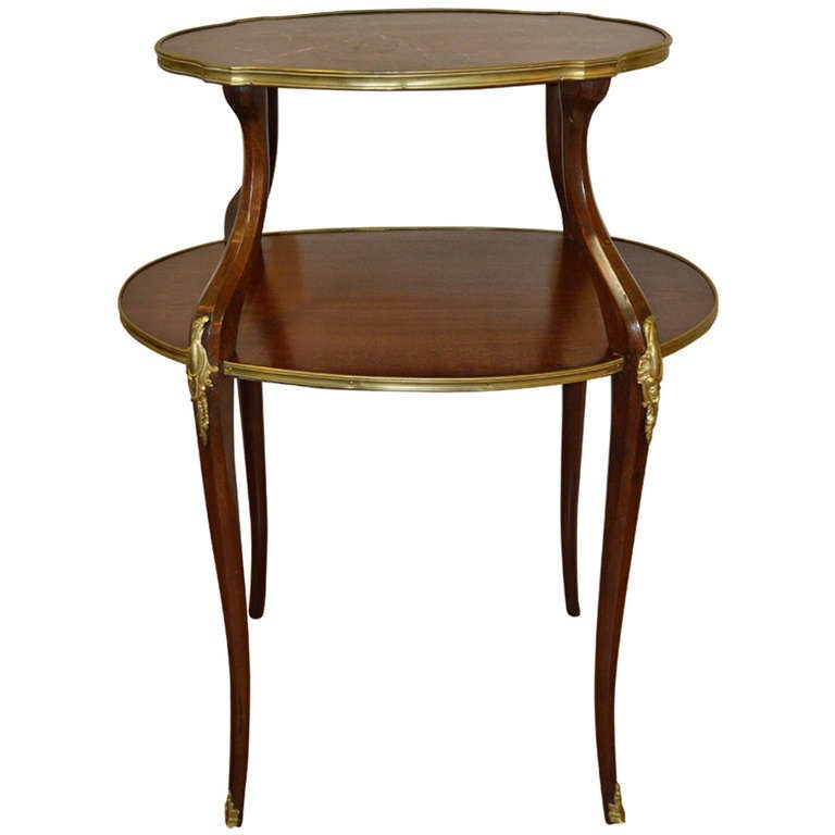 Louis Xv Style Two Tier Serving Table For Sale At 1stdibs