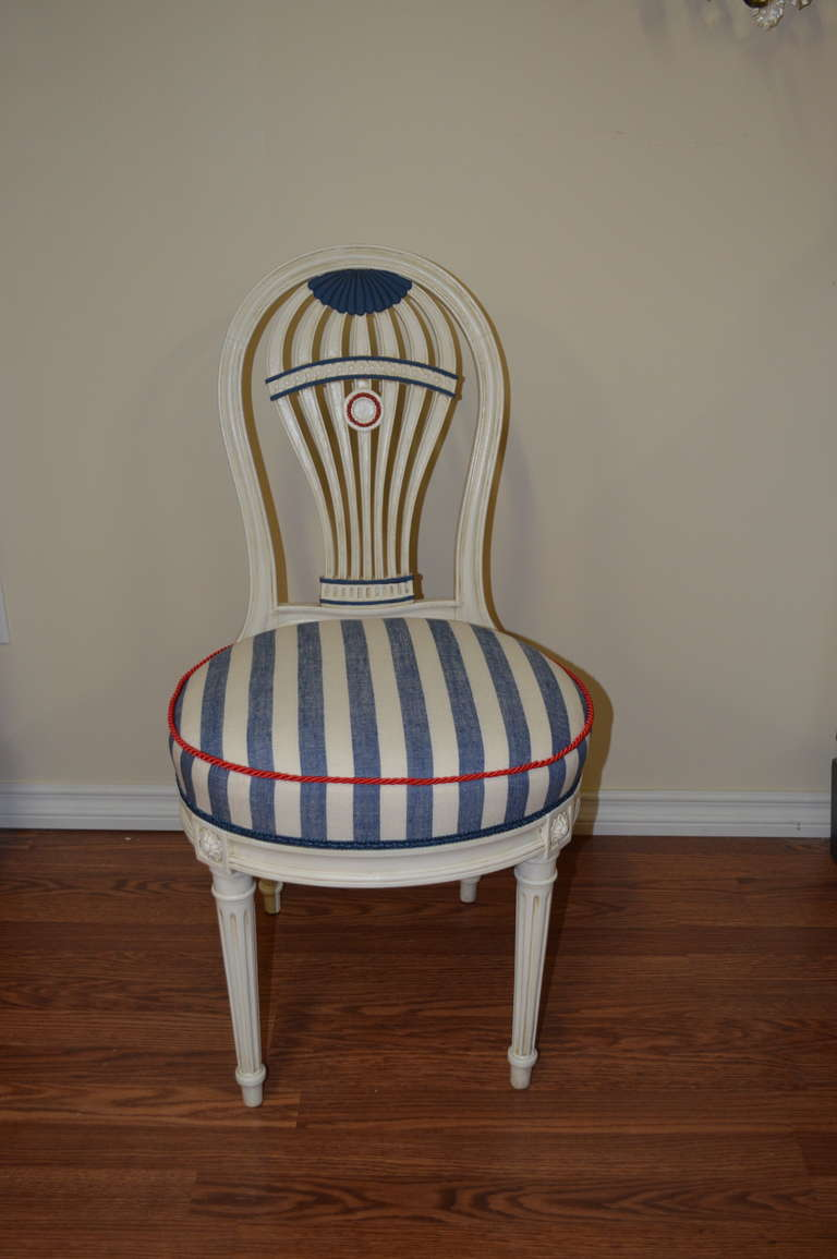 Parisian Hot Air Balloon Design Dining Chairs At 1stdibs
