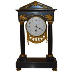 19th Century French Desk Marble Clock