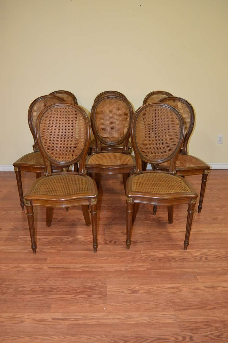 this louis xvi style dining room chairs set of eight is no longer