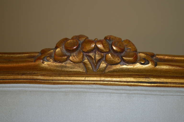 Louis XV Louis Xv Style Gilded Canape For Sale