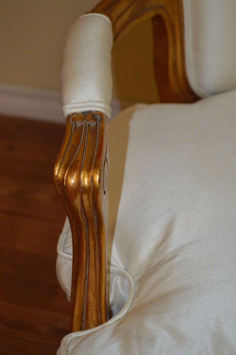 French Louis Xv Style Gilded Canape For Sale