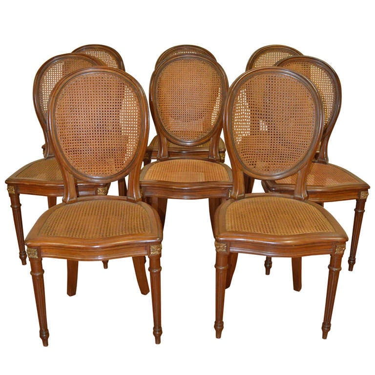 Louis Xvi Style Dining Room Chairs Set Of Eight At 1stdibs