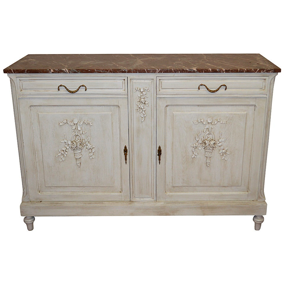 louis xvi style painted buffet for sale at 1stdibs. Black Bedroom Furniture Sets. Home Design Ideas