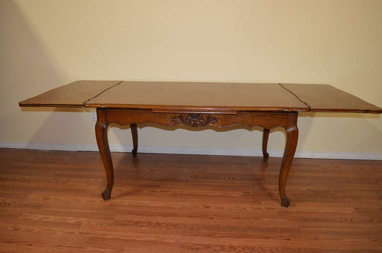 louis xv style solid oak country style dining table at 1stdibs