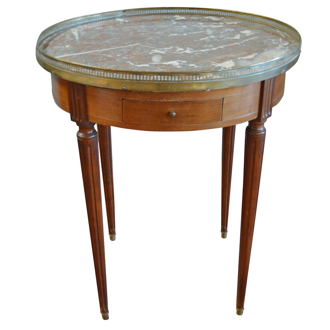 louis xvi style mahogany bouillotte table for sale at 1stdibs. Black Bedroom Furniture Sets. Home Design Ideas