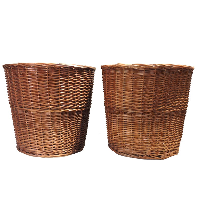 Large Wicker Baskets At 1stdibs