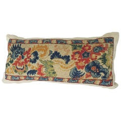 19th c. Tapestry bolster Pillow.