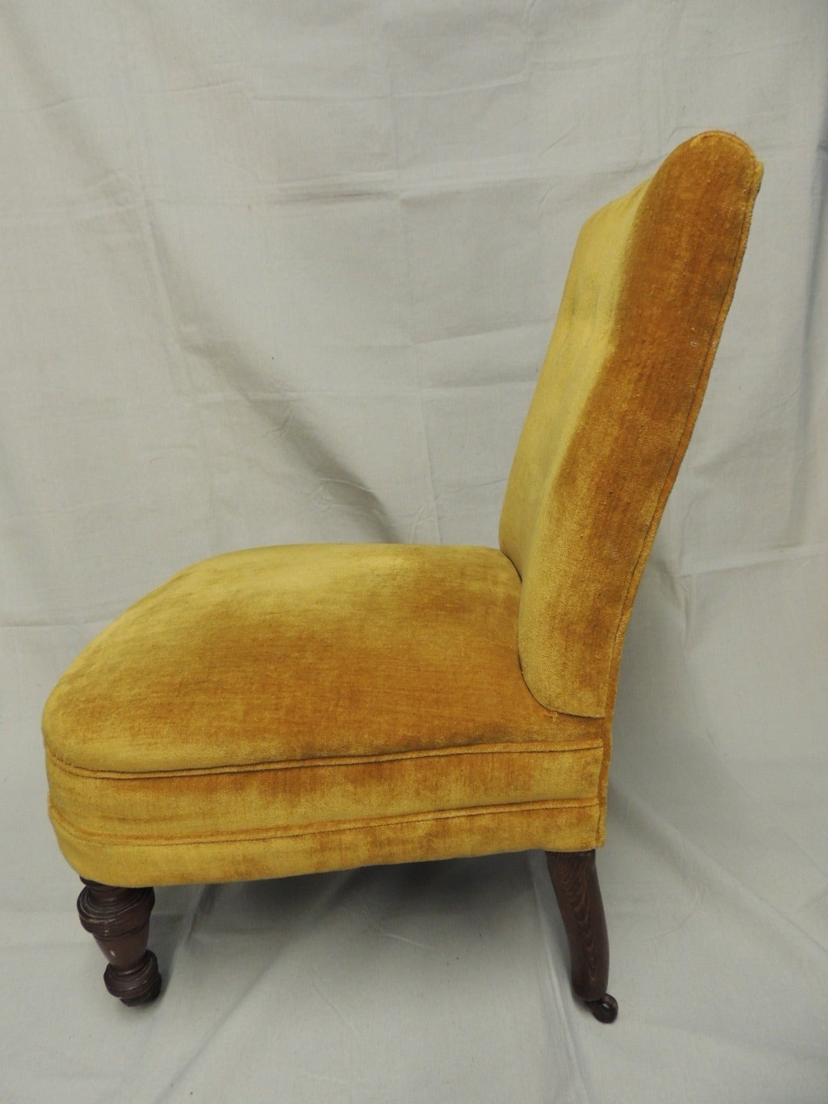 Hand-Crafted Slipper Chair For Sale