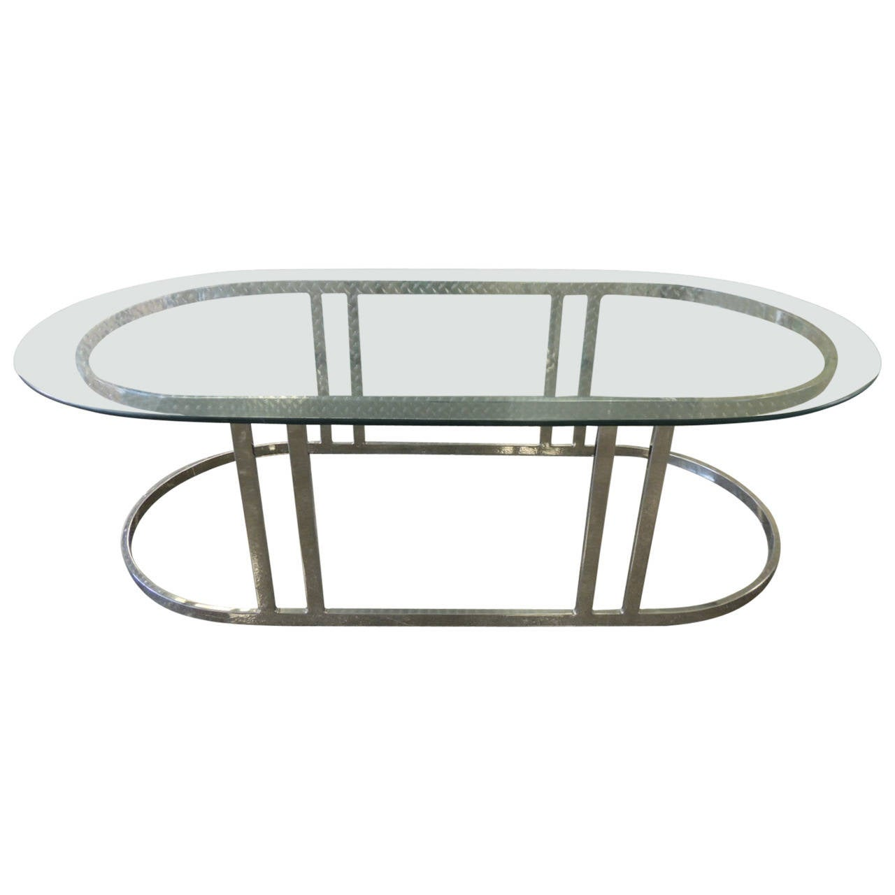 Mid Century Modern Polished Chrome Oval Coffee Table At 1stdibs