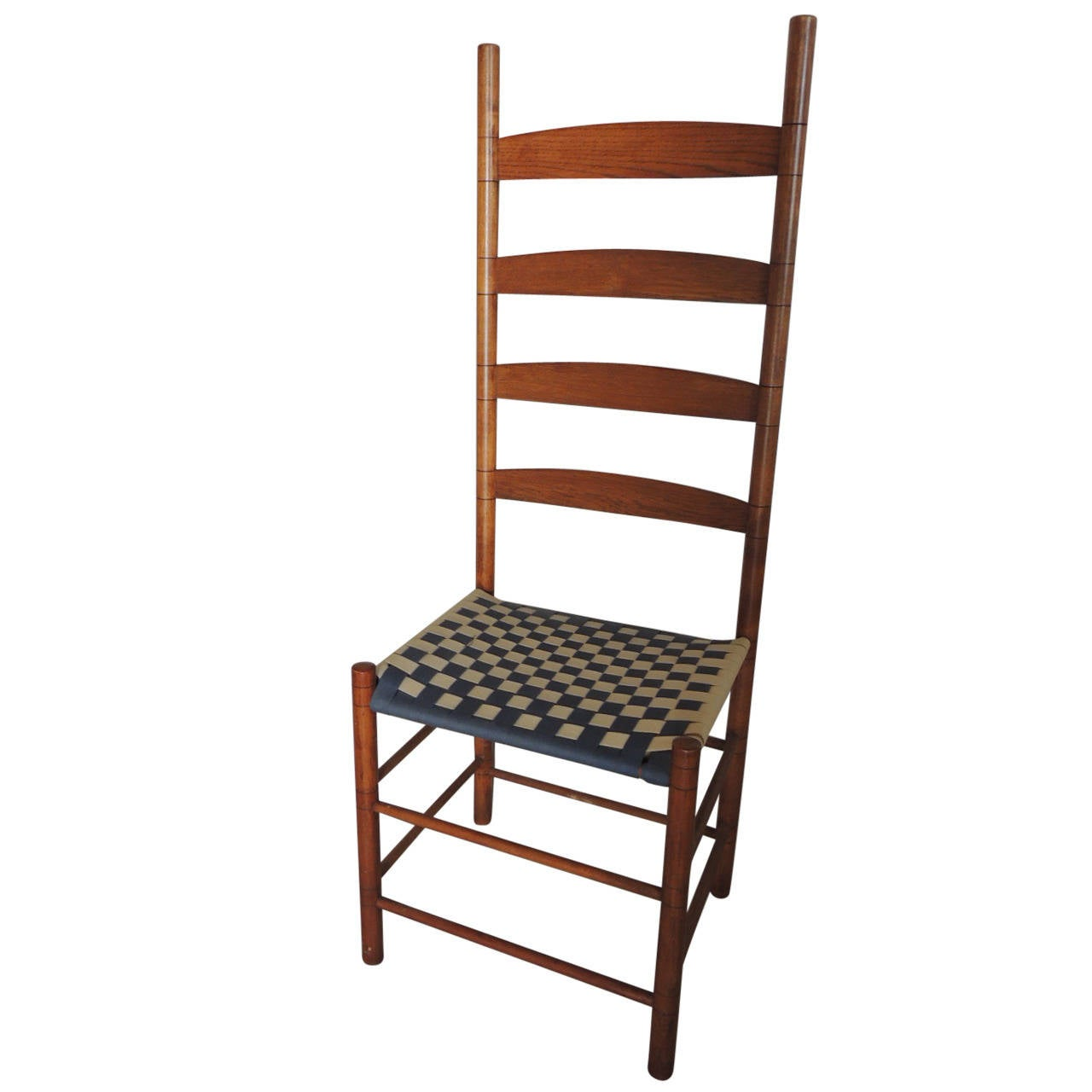 Hudson valley shaker ladder back side chair at 1stdibs - Ladder back dining room chairs ...