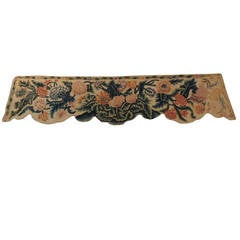 18th Century English Needlework Floral Tapestry Panel