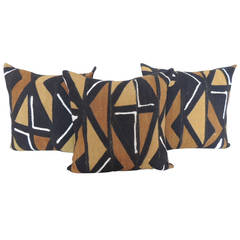 African Mud Cloth Geometric Pillows
