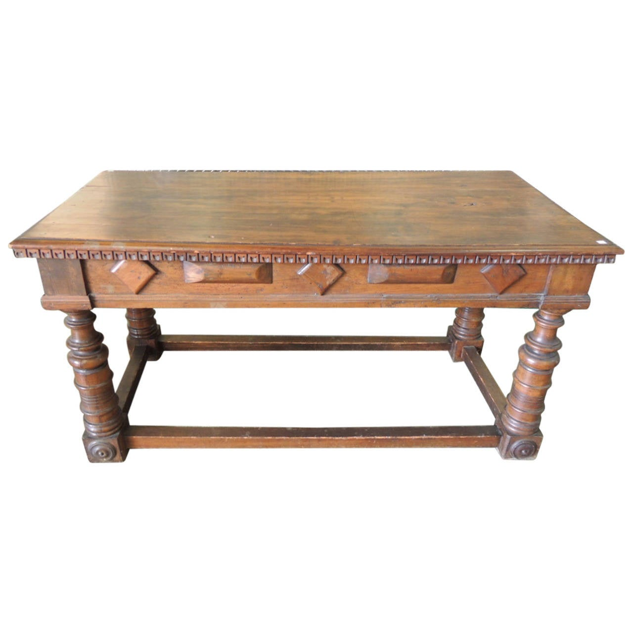 Antique Wood Library Table At 1stdibs