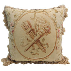 Large Tapestry Pillow with Tassels.