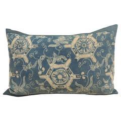 Japanese Indigo Printed Bolster Pillow